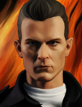 T-1000 Terminator digital painting by frostdusk