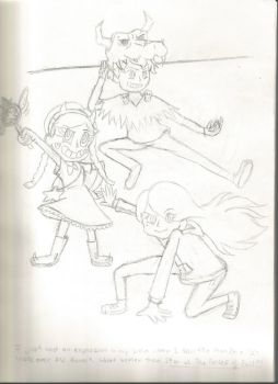 Grimm vs. The Forces of Evil Lineart by Imagine0139