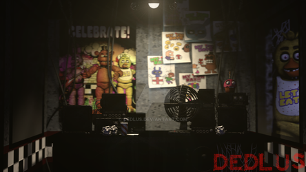 FNaF 1 Office by Dedlus