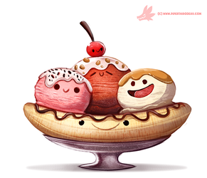 Daily Paint #1118. Have a nice Sundae! by Cryptid-Creations