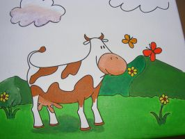 Cow painting by rev-Jesse-C