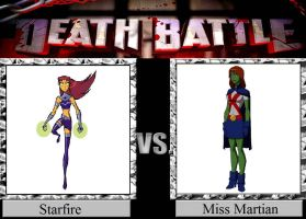 Starfire vs. Miss Martian by JasonPictures
