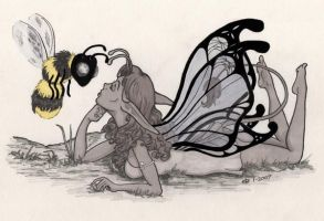 Ylla and the Bee by Catgoyle