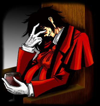 Alucard looking quite devious by Kawaii-Nic