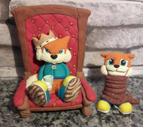 Conkers Bad Fur Day - Clay Tribute by tibbers-workshop