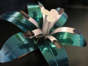 Soda Can Hairclip: Blue-Green2 by Christine-Eige