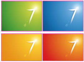 Windows 7 flare wallpapers by tonev