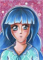 ACEO #138 - Shy Tailorgirl by Elythe
