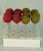 Pink n Gold Cake Pops by cake-engineering