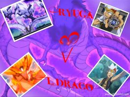 Ryuga and L-Drago collage by Evil-Black-Sparx-77