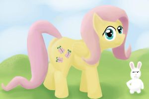 Fluttershy is Watching by JimTheCactus