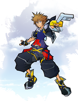 Sora - Kingdom Hearts 2 by Outering
