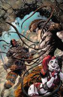 Deathstroke #13 cover new color rev3 by TylerKirkham