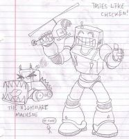 Robots like chicken? by Torrential-E