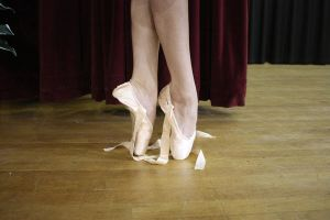 Pointe Undone Ballett Shoes by GreenEyezz-stock