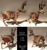 Devil Claw Jackalope by ART-fromthe-HEART
