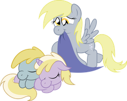 Request:  Derpy, Dinkie, and Chirpy by T-3000