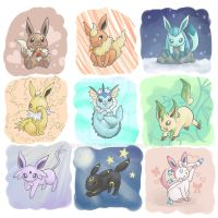 Eeveelutions by SabrieI