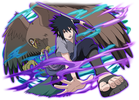 Sasuke and Garuda by AiKawaiiChan