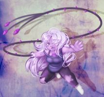 Amethyst and her whip by Moossey