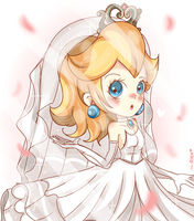 Peach will you...be my 1UP girl? by chibiirose