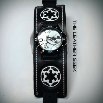 Stormtrooper cuff watch close up by CoreyChiev