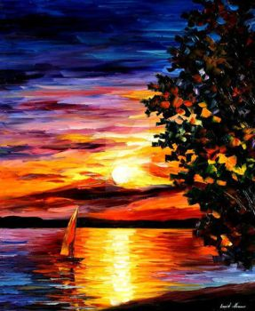 Beauty Of Night by Leonid Afremov by Leonidafremov