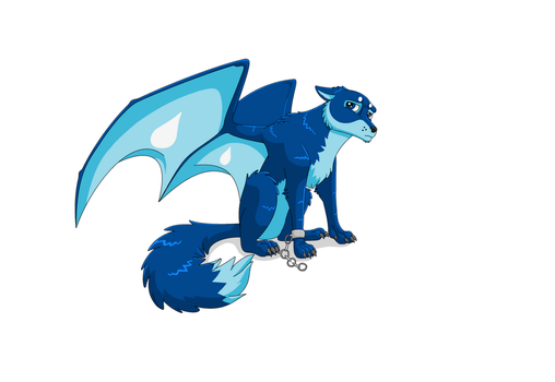 Irvin the Flying Water Wolf - by IVISEK by joshbluemacaw