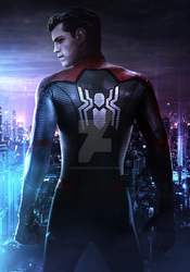 SPIDER-MAN FAR FROM HOME (NEON CITY) by iMizuri