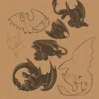 Moar Toothless by NepherimCrystal