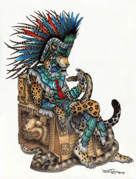 Tepeyollotl - Aztec Jaguar God by ScribbleFox