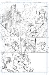 Night Wolf Comic Book Issue #1 Page #1 Sketch by RAM-Horn