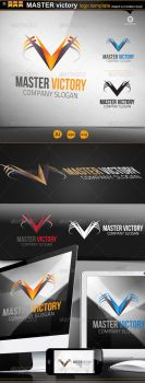 Master Victory logo by gomez-design
