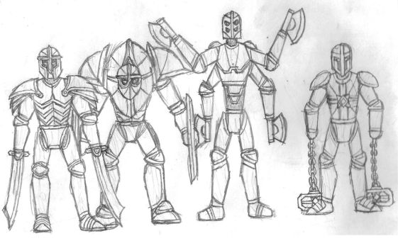Iron Golems by DWestmoore