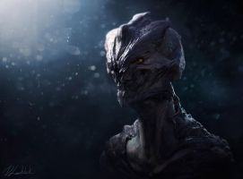 Alien head by dleoblack