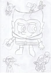 spongebob and his ghosts by Chibi-Danny