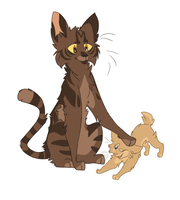 Brambleclaw and Berrykit by Harryfly