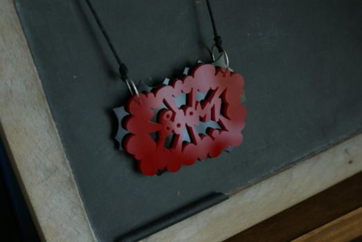 Action bubble necklace by Pemari