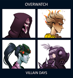 Gorillaz vs. Overwatch (commission) by TE4MOON