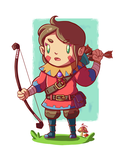 The Little Archer Girl by Marcos-A-Rodrigues