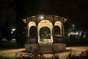 Night Gazebo Stock by little-spacey