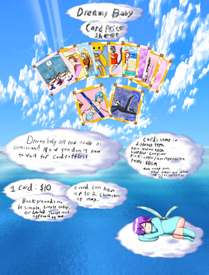 Dreamy Baby Card Price Sheet by Cloud-Dream