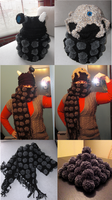Dalek Reversible Hat and Scarf by OblivionMasquerade