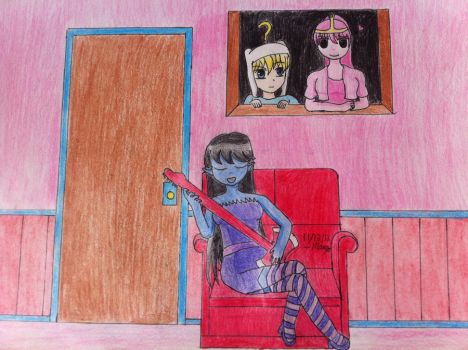 AT: AT Bubblegum Spying on Marceline by mango-chan88