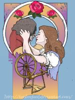 Rumbelle Nouveau: Tale as Old as Time by tonksiford
