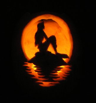 Little Mermaid Pumpkin by StephieT