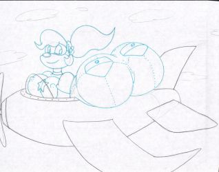 Thick Coco Flying in Plane - By Virus-20 by Sonicdude645