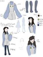 Protag ref sheet. by Nameless-doodles