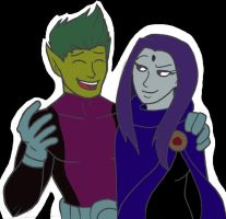 CONTEST: Beast Boy and Raven by WOLVIE-V0N-D00M