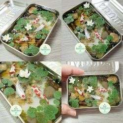 Commission - Large Altoids Tin Koi Pond by PepperTreeArt